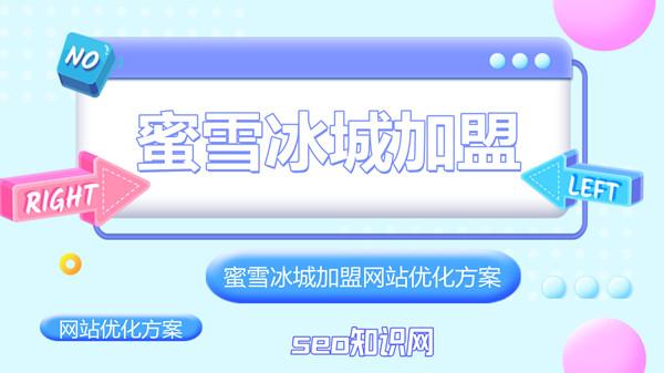 蜜雪冰城加盟网站seo方案